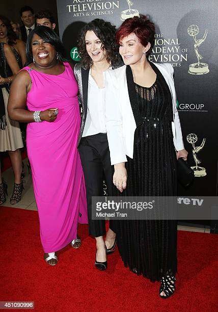 Sheryl Underwood Sara Gilbert and Sharon Osbourne arrive at the 41st Annual Daytime Emmy Awards held at The Beverly Hilton Hotel on June 22 2014 in...