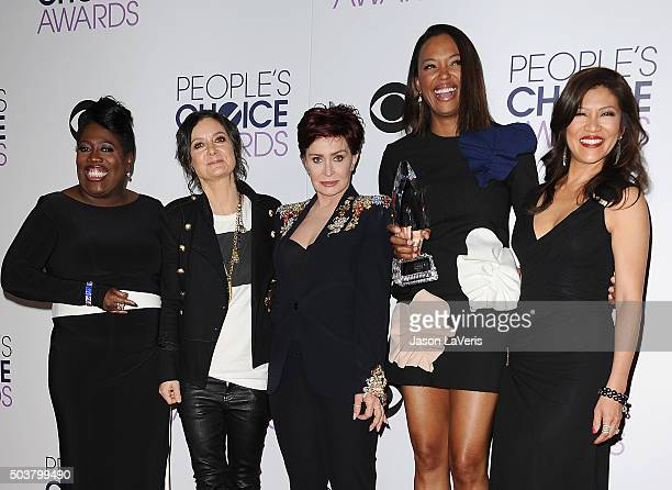 Sheryl Underwood Sara Gilbert Sharon Osbourne Aisha Tyler and Julie Chen winners of Favorite Daytime Talk Show Hosting Team for 'The Talk' pose in...
