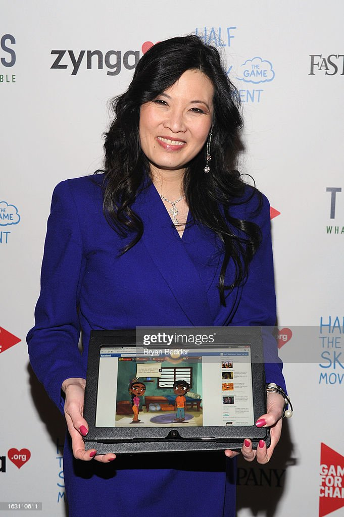 Sheryl WuDunn attends Games For Change presents the launch of Half The Sky Movement: The Game at No. 8 on March 4, 2013 in New York City.