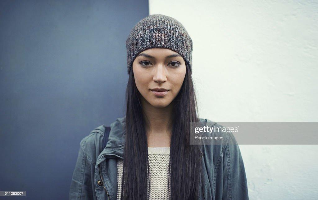 She's a confident woman : Stock Photo