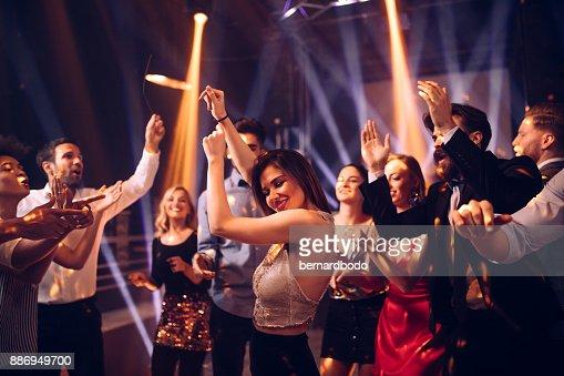 She's a party animal : Stock Photo