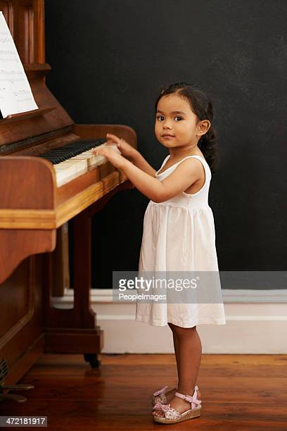 She's a pianist in the making