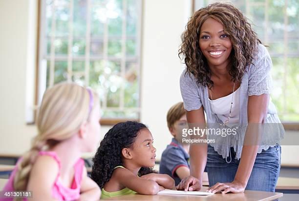 She's a proud teacher
