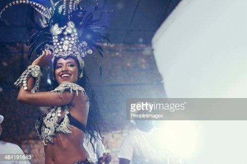 She's a scintillating samba queen