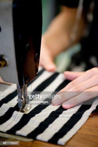 She's a skilled seamstress