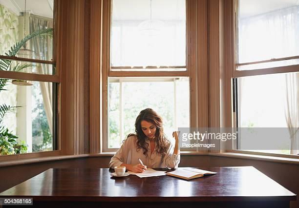 She's always writing