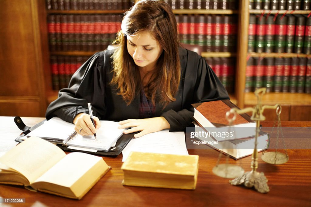 She's an expert in the legal world : Stock Photo