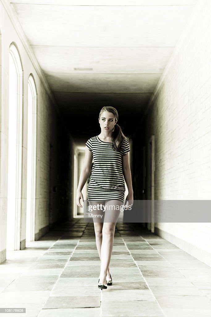 she's coming III (into the light version) : Stock Photo