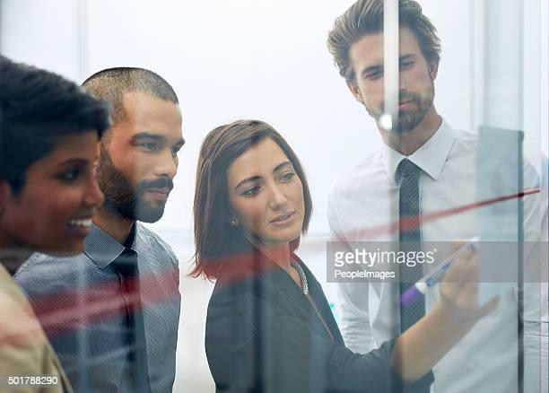 Sie ist die Übermittlung Ihrer Ideen zum team