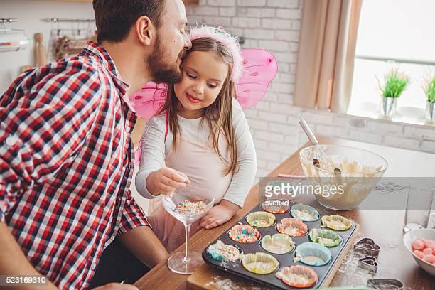 She's daddy's little helper!