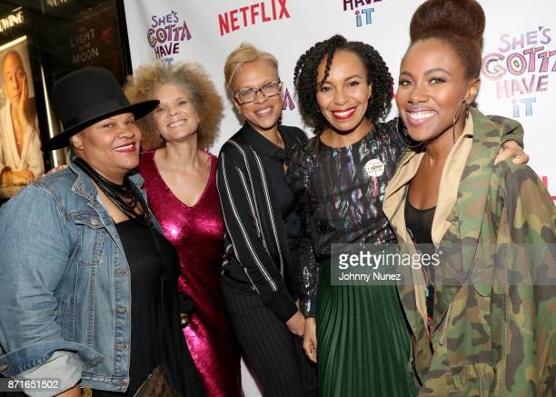 'She's Gotta Have it' Writer Radha Blank Michaela Angela Davis 'Shes Gotta Have It' Executive Producer Tonya Lewis Lee Writer Eisa Davis and Lead...