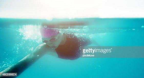 She's like a torpedo : Stock Photo