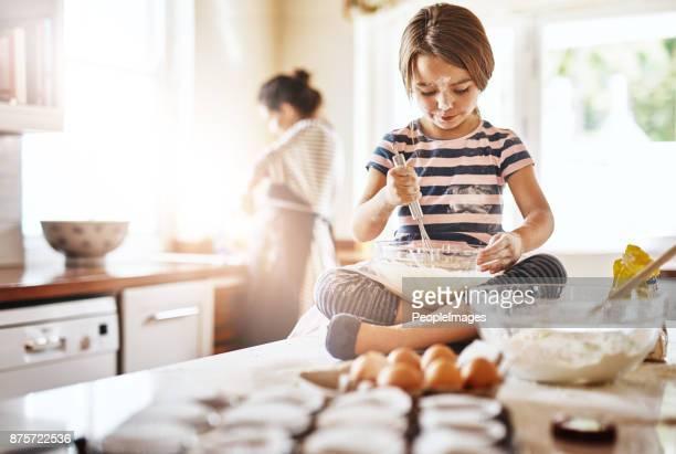 She's Mom's special little baker
