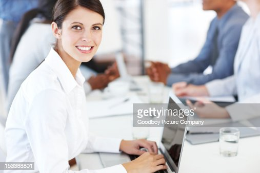 She's passionate about her career : Stock Photo