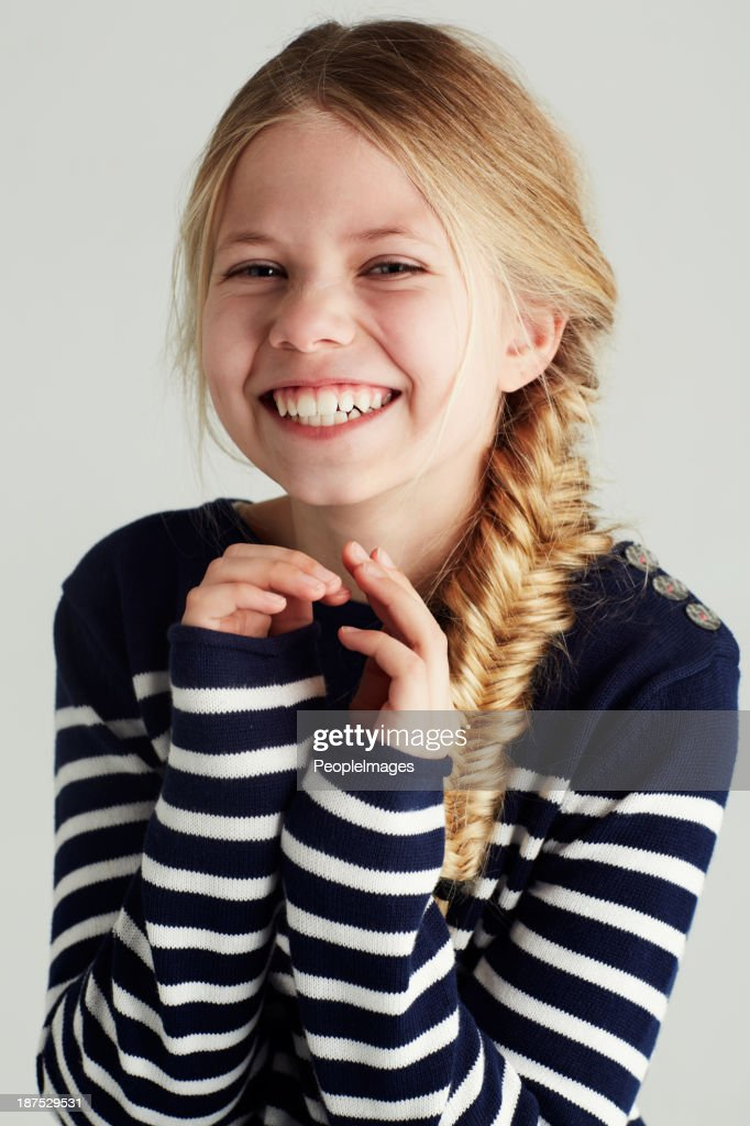 She's so cute and carefree : Stock Photo