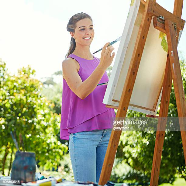 She's taken up painting