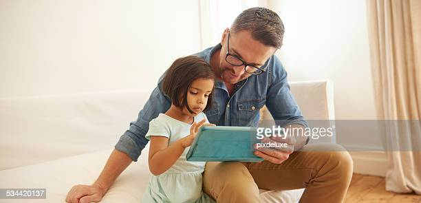 She's teaching daddy a thing or two