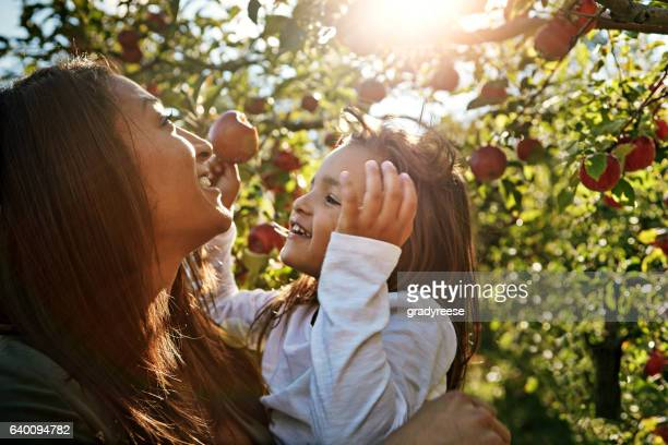 She's the apple of her mom's eye