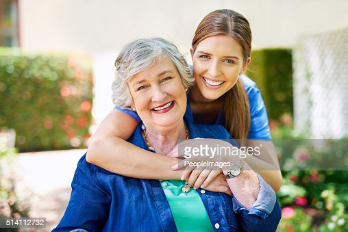 Shes the only nurse I trust  Stock Photo