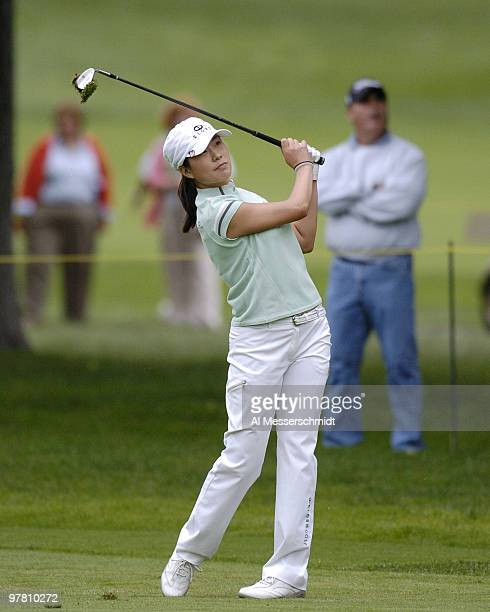 Shi Hyun Ahn competes in the finalround of the 2004 McDonald's LPGA Championship at DuPont Country Club Wilmington Delaware June 13 2004