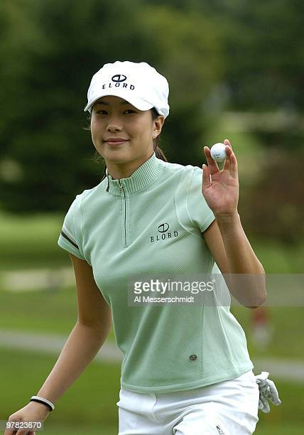 Shi Hyun Ahn competes in the third round of the 2004 McDonald's LPGA Championship at DuPont Country Club Wilmington Delaware June 13 2004 Ahn...