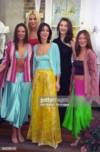 Shi with socialite Beverly Bloom and celebrities Lili Maltese Julia Bradbury and Ann Ryder Richardson wearing luxurious cashmere silks chiffons and...