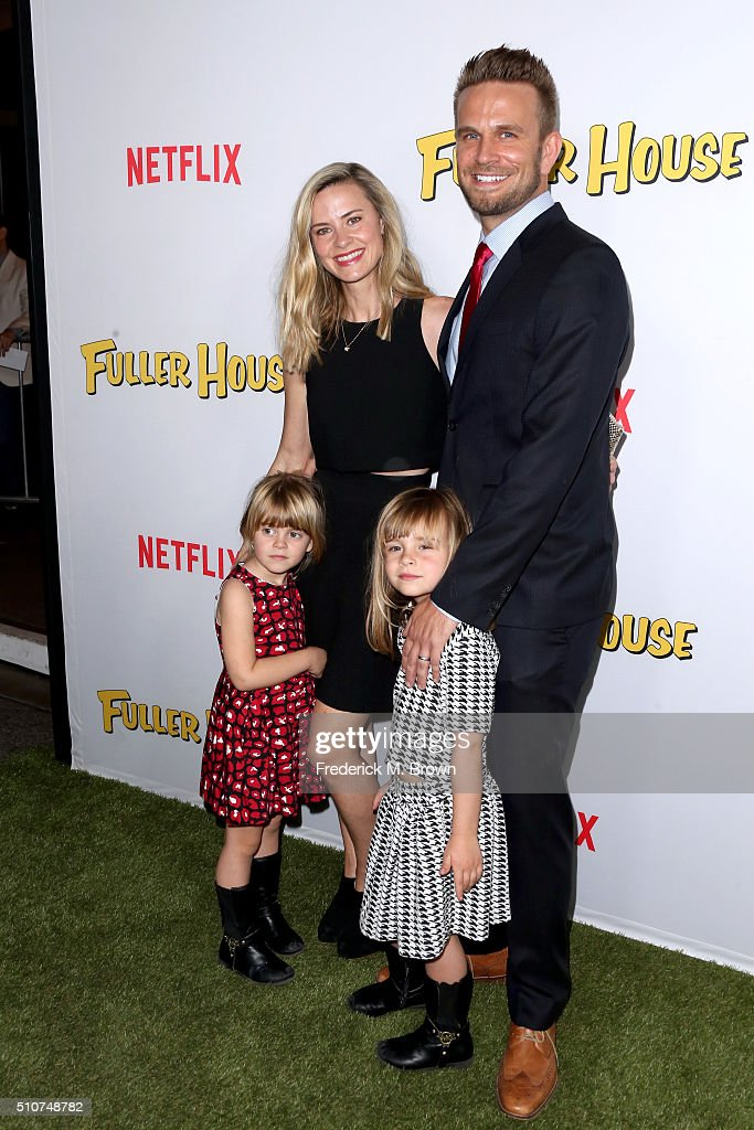 Shia Bellatrix Alison Raimondi Saylor Callisto and actor John Brotherton attend the premiere of Netflix's 'Fuller House' at Pacific Theatres at The...