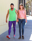 Shia Labeouf and Mia Goth are seen on September 06 2014 in Los Angeles California