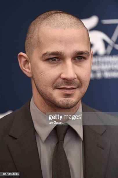 Shia LaBeouf attends a photocall for 'Man Down' during the 72nd Venice Film Festival at on September 6 2015 in Venice Italy