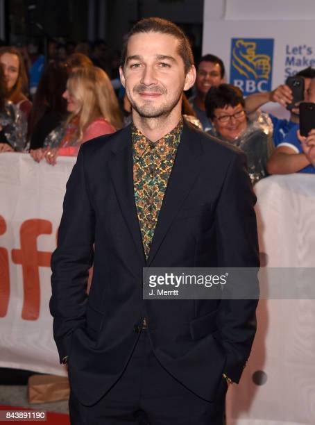 Shia LaBeouf attends the 'Borg/McEnroe' premiere during the 2017 Toronto International Film Festival at Roy Thomson Hall on September 7 2017 in...