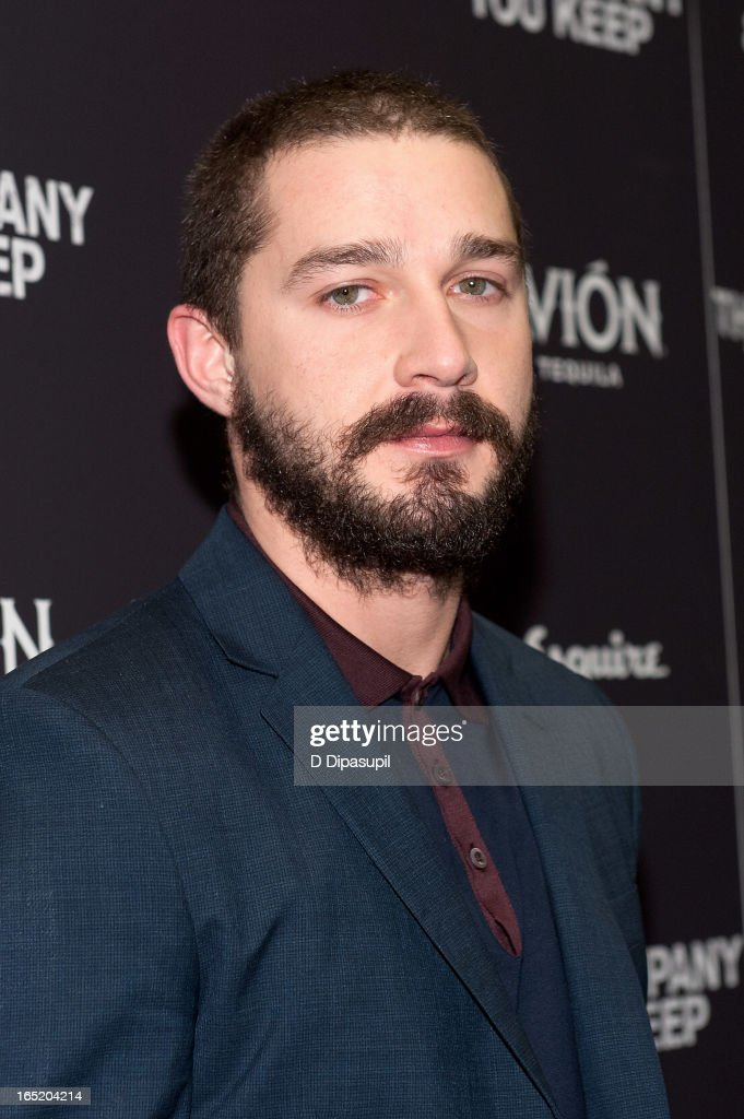 Shia LaBeouf attends 'The Company You Keep' New York Premiere at The Museum of Modern Art on April 1 2013 in New York City