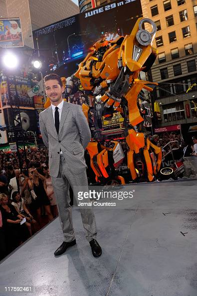 Shia LaBeouf attends the New York premiere of 'Transformers Dark Of The Moon' in Times Square on June 28 2011 in New York City