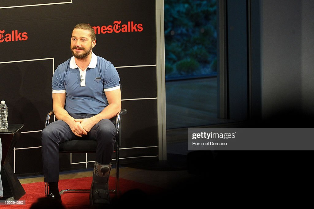 <a gi-track='captionPersonalityLinkClicked' href=/galleries/search?phrase=Shia+LaBeouf&family=editorial&specificpeople=233442 ng-click='$event.stopPropagation()'>Shia LaBeouf</a> attends the TimesTalks Presents: 'The Company You Keep' at TheTimesCenter on April 2, 2013 in New York City.