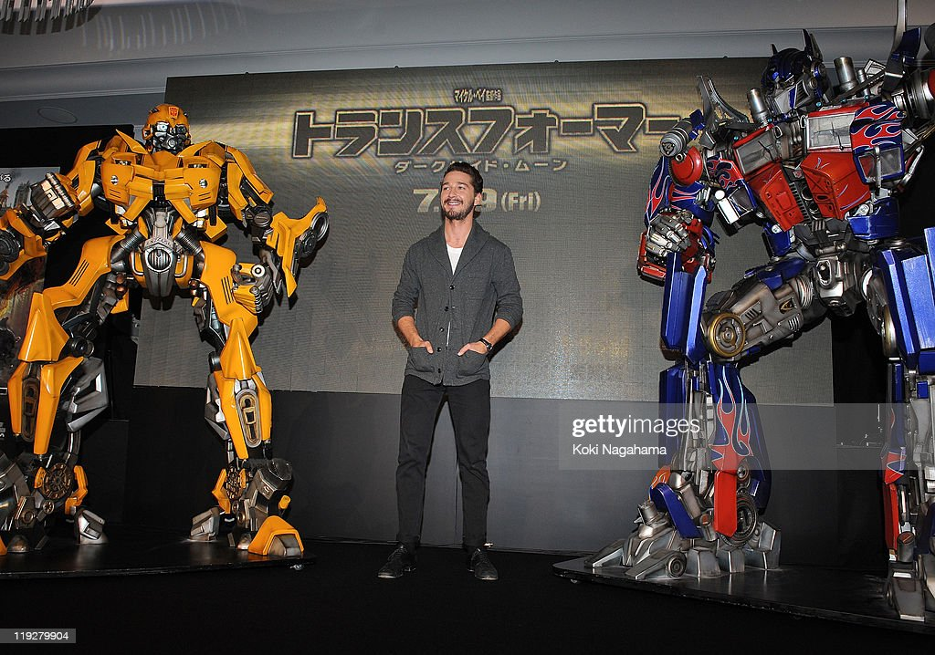 <a gi-track='captionPersonalityLinkClicked' href=/galleries/search?phrase=Shia+LaBeouf&family=editorial&specificpeople=233442 ng-click='$event.stopPropagation()'>Shia LaBeouf</a> attends the 'Transformers: Dark of the Moon' press conference at the St. Regis Hotel Osaka on July 16, 2011 in Osaka, Japan. The film will open on July 29 in Japan.