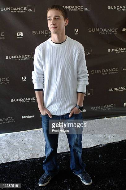 Shia LaBeouf during 2006 Sundance Film Festival 'A Guide To Recognizing Your Saints' Premiere at Racquet Club in Park City Utah United States