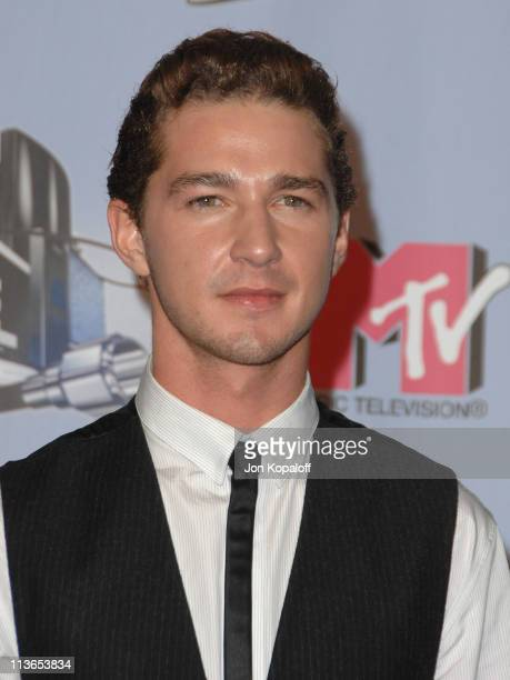 Shia LaBeouf during 2007 MTV Movie Awards Press Room at Gibson Amphitheater in Los Angeles California United States