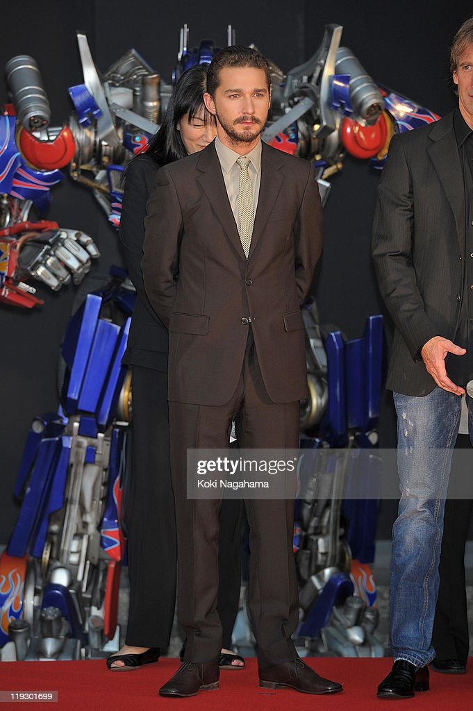 <a gi-track='captionPersonalityLinkClicked' href=/galleries/search?phrase=Shia+LaBeouf&family=editorial&specificpeople=233442 ng-click='$event.stopPropagation()'>Shia LaBeouf</a> during the 'Transformers: Dark of the Moon' stage greeting at Osaka Station City Cinema on July 16, 2011 in Osaka, Japan. The film will open on July 29 in Japan.