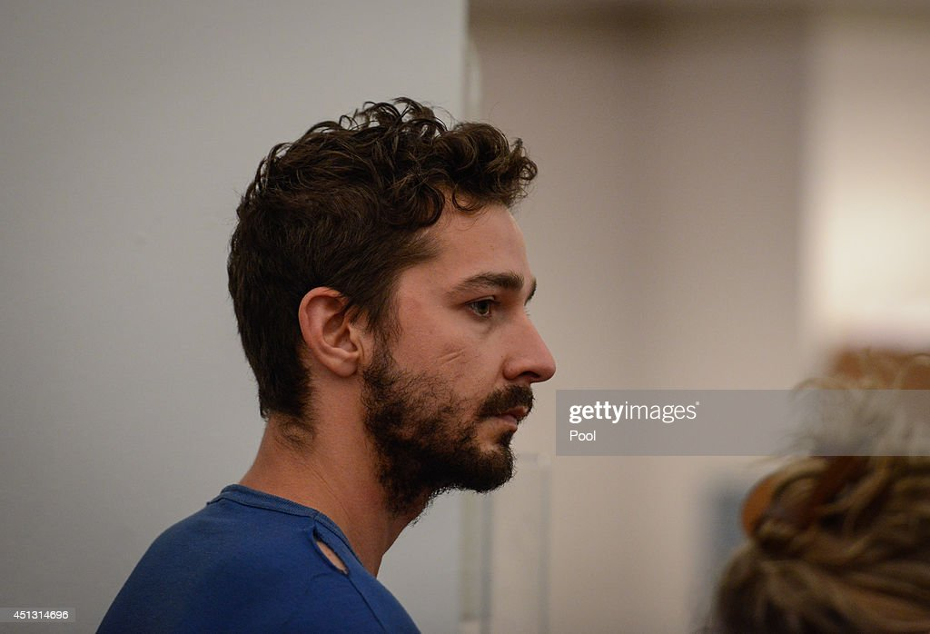 <a gi-track='captionPersonalityLinkClicked' href=/galleries/search?phrase=Shia+LaBeouf&family=editorial&specificpeople=233442 ng-click='$event.stopPropagation()'>Shia LaBeouf</a> is arraigned in Midtown Community Court, on June 27, 2014 in New York City. The actor is charged with harrassment, disorderly conduct and criminal trespass following an incident during the show' 'Cabaret' Thursday night.