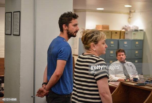 Shia LaBeouf is arraigned in Midtown Community Court on June 27 2014 in New York City The actor is charged with harrassment disorderly conduct and...