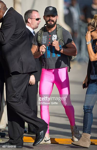 Shia LaBeouf is seen at 'Jimmy Kimmel Live' on October 13 2014 in Los Angeles California