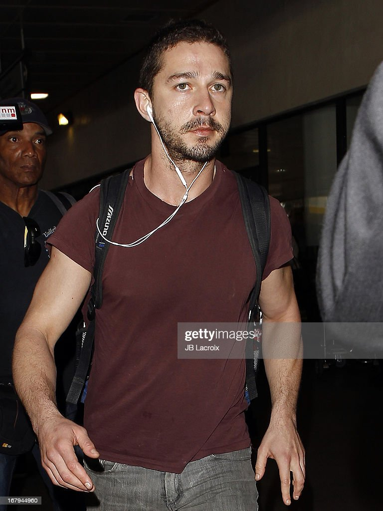 <a gi-track='captionPersonalityLinkClicked' href=/galleries/search?phrase=Shia+LaBeouf&family=editorial&specificpeople=233442 ng-click='$event.stopPropagation()'>Shia LaBeouf</a> is seen at LAX Airport on May 2, 2013 in Los Angeles, California.