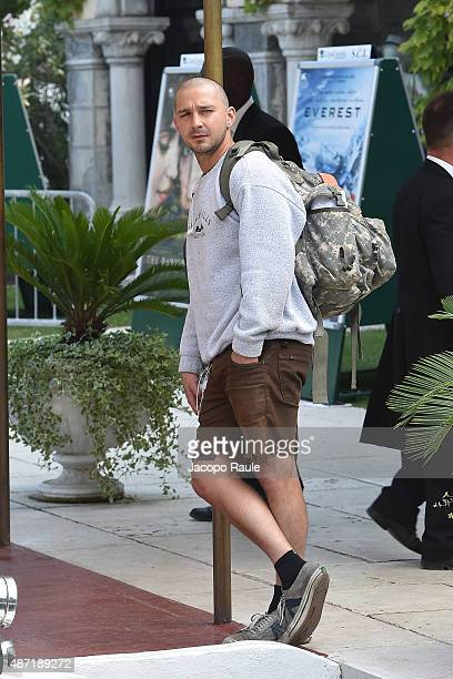 Shia LaBeouf is seen during the 72nd Venice Film Festival on September 7 2015 in Venice Italy