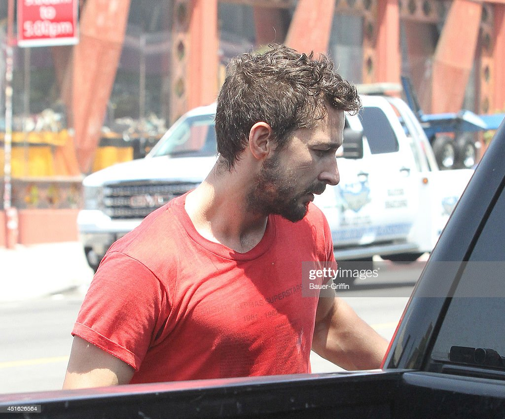 Shia LaBeouf is seen in Los Angeles on July 02, 2014 in Los Angeles, California.