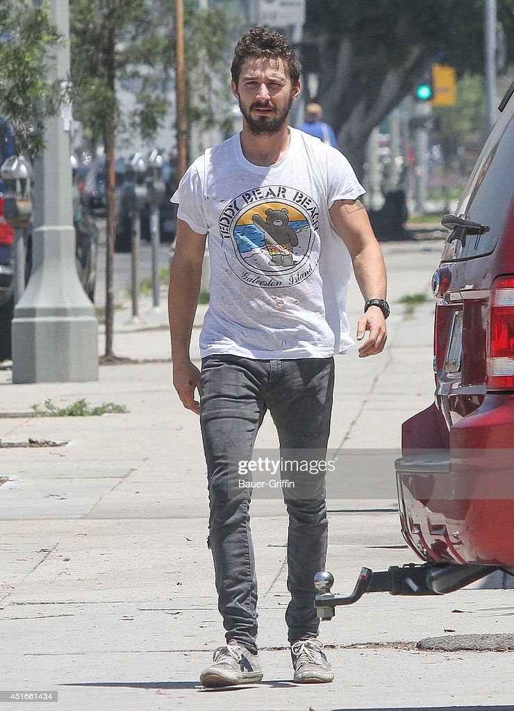 Shia LaBeouf is seen in Los Angeles on July 03, 2014 in Los Angeles, California.