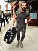 Shia LaBeouf is seen in Tribeca on October 15 2014 in New York City