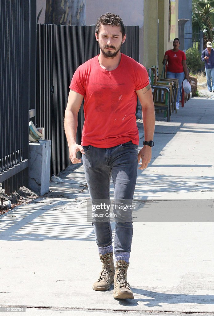 Shia LaBeouf is seen on July 02, 2014 in Los Angeles, California.