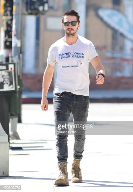 Shia LaBeouf is seen on June 19 2014 in Los Angeles California