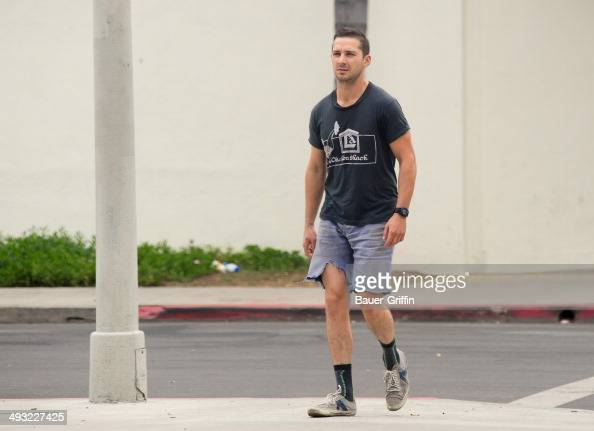 Shia LaBeouf is seen on May 22 2014 in Los Angeles California
