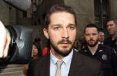 Shia LaBeouf leaves criminal court on July 24 2014 in New York City