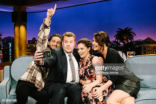 Shia LaBeouf Rachel Bloom and Cobie Smulders chat with James Corden during 'The Late Late Show with James Corden' Tuesday October 18 2016 On The CBS...